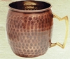 Hammered Solid Antique Copper Moscow Mule Mug 16oz