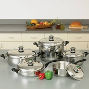 "HealthSmart™  12-Element ""Waterless"" Cookware Set with Thermo Control Knobs 10pc"
