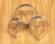 Mrs Anderson's Heart Cookie Cutter Set with Handles, Set of 3