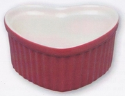 HIC Red Ceramic Heart Shape Ramekin  3oz