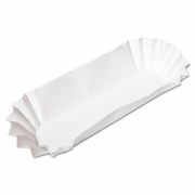 Hoffmaster Fluted Paper Hot Dog Trays  3000/case