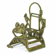 Hose Organizer Frolicking Frog Cast Iron