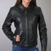 Hot Leathers Ladies Leather Jacket With Braided Detail  XS ONLY