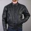 Hot Leathers Men's Vented Leather Motorcycle Jacket