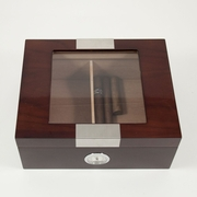Humidor, Walnut Cedar Lined with Glass Top