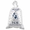 "Ice Bags with Twist Ties  10lb  capacity 12"" x 21"" 1000 bags/Case"