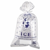 "Ice Bags with Twist Ties  8lb  capacity 11"" x 20"" 1000 bags/Case"