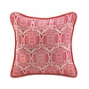 "Jute Red Pillow 15""sq"
