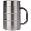 Keg Shaped Beer Mug Double-wall Stainless Steel