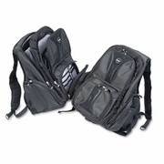 Kensington® Contour Laptop Backpack, Nylon, 15 3/4 x 9 x 19 1/2, Black