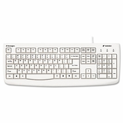 Kensington Washable Antimicrobial Keyboard, 104 Keys, White