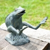 Leaping Frog Aluminum Garden Sculpture  FREE SHIPPING