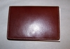 Leather Credit Card Case with Snap Closure Brown