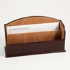 Letter Rack Croco-Grained Leather