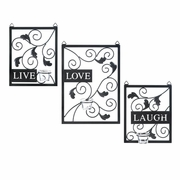 Live, Love, Laugh Wall Decor Candleholder
