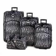 Luggage Set Snow Leopard Print Design  4pc