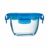 Luminarc Baby Pure Box Round with  Blue Lid 6.75 oz