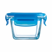 Luminarc Baby Pure Box Square with  Blue Lid  6.75oz