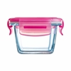 Luminarc Baby Pure Box Square with Pink Lid 6.75oz
