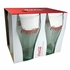 Luminarc Coca-Cola Bell Shape Soda Glasses Georgia Green   with Coke Red Logo 20oz  4/set
