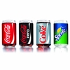 Luminarc Coke Can Glass Assorted Decorated 16 oz / Set of 4