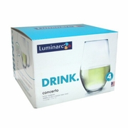 Luminarc Concerto  Stemless Wine 11.5oz  4/set