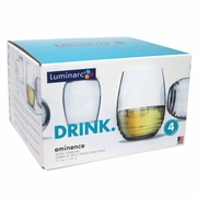 Luminarc Eminence Stemless Wine Glass 11oz  Boxed Set of 4
