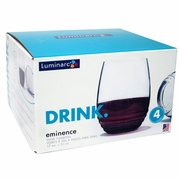 Luminarc Eminence Stemless Wine Glass 17oz/ Set of 4