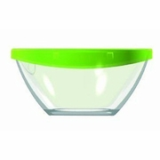 Luminarc Keep N Box Bowl with Green Lid 6 1/2""