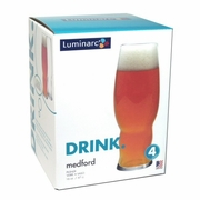 Luminarc Medford Pilsner Glass 16oz   Set of 4