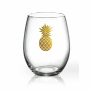 Luminarc Perfection Series  Aloha Gold Pineapple Tumbler 17 oz.  6pc