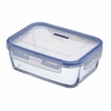 "Luminarc Pure Box Rect Glass Dish with Snap-lock Lid 7.8"" x 5.7"" x 2.6"""