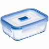 "Luminarc Pure Box Rectangular with Vent Lid, 6.3"" x 4.4"" x 2.4""  27.75oz"