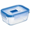 "Luminarc Pure Box Rectangular with Vent Lid   4.7"" x 3.3"" x 2"",  13.oz"
