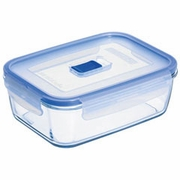 "Luminarc Pure Box Rectangular with Vent Lid  8.7"" x 6"" x 2.8""  69oz."
