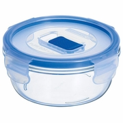 "Luminarc Pure Box Round with Vent Lid   4.5"" x 4.5"" x 2"", 14.75oz"