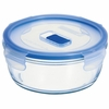 "Luminarc Pure Box Round with Vent Lid, 6"" x 6"" x 2.5"", 32oz"