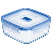 "Luminarc Pure Box Square w/Vent Lid, 3.2 Cup, 5"" x 5"" x 2.4"", 25.5oz."
