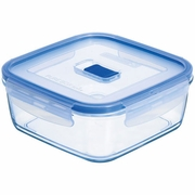 "Luminarc Pure Box Square with Vent Lid 4"" x 4"" x 2"", 12.75 oz"