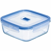 "Luminarc Pure Box Square with Vent Lid,  6"" x 6"" x 2.6"", 41.25 oz"