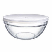 Luminarc Stackable Bowl with White Lid  6-1/2""