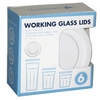 Luminarc White Lids for  Working Glass Tumblers (fits 14oz, 21oz,24oz)  6pc