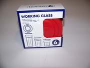 Luminarc Working Glass Red Lids (fits 14oz, 21oz and 24oz tumblers)  6pc