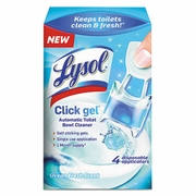 Lysol Click Gel Automatic Toilet Bowl Cleaner, Ocean Fresh,  4 disc/pkg   5pkg/case