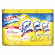 Lysol Disinfecting Wipes, 7x8, Lemon and Lime Blossom, 80/Canister, 3/Pack, 2 Packs/CS FREE SHIPPING