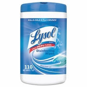 Lysol Disinfecting Wipes, Ocean Fresh Scent, 7 x 8, White, 110/Canister, 6/Pack  FREE SHIPPING