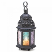 "Magic Rainbow Candle Lantern  10-1/4""h"