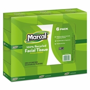 Marcal Pro 100% Recycled Convenience Pack Facial Tissue, White, 80/Box, 6 Boxes/Pack  FREE SHIPPING