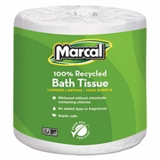 Marcal Small Steps 100% Recycled 1-Ply Bath Tissue, 1000 Sheets/Roll, 40 Rolls/Carton   FREE SHIPPING