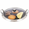 Maxam  12-Element Surgical Stainless Steel Round Griddle